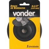 """DISCO DE BORRACHA PARA LIXADEIRA 4.1/2"""" FLEXÍVEL PERFIL BAIXO - VONDER"""
